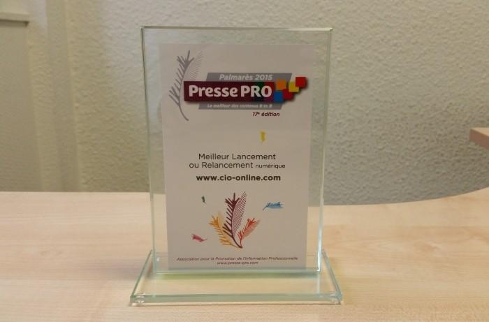 Palmarès Presse Pro 2015: CIO récompensé