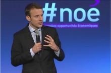 No� : Emmanuel Macron veut sauver l'emploi des eaux basses avec une arche num�rique