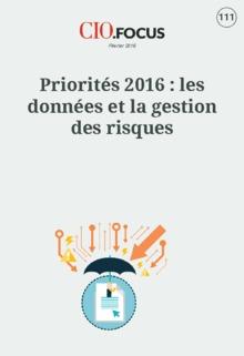 Priorit�s 2016 : les donn�es et la gestion des risques