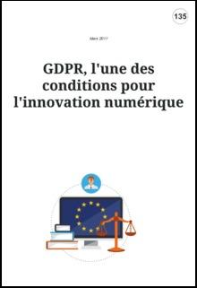 GDPR, l'une des conditions pour l'innovation numérique