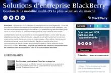 Solutions d'entreprise BlackBerry