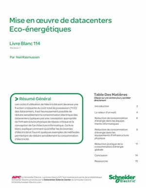Mise en oeuvre de datacenters Eco-énergétiques