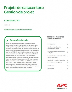 Projets de datacenters : Gestion de projet