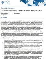 IDC : Le Cloud et les gains d'efficacité du SD-WAN