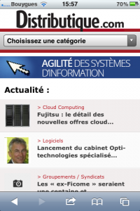 Distributique se d�cline en version mobile