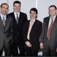 Les fondateurs de Neolane, de guache à droite : Benoît Gourdon, Stéphane Dietrich, Stéphane Dehoche, Thomas Boudalier (photo LMI)