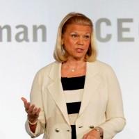 La chairman et CEO d'IBM Virginia Rometty et ses cadres seniors n'auront pas de bonus cette année, eu égard aux résultats en baisse. (crédit photo : IBM)