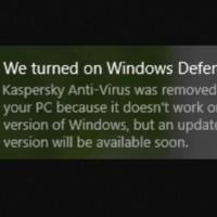 Avec la dernière mise à jour de Windows 10, Microsoft désactivait systématiquement les solutions d'antivirus de Kaspersky au profit de Windows Defender. (Crédit photo : DR)
