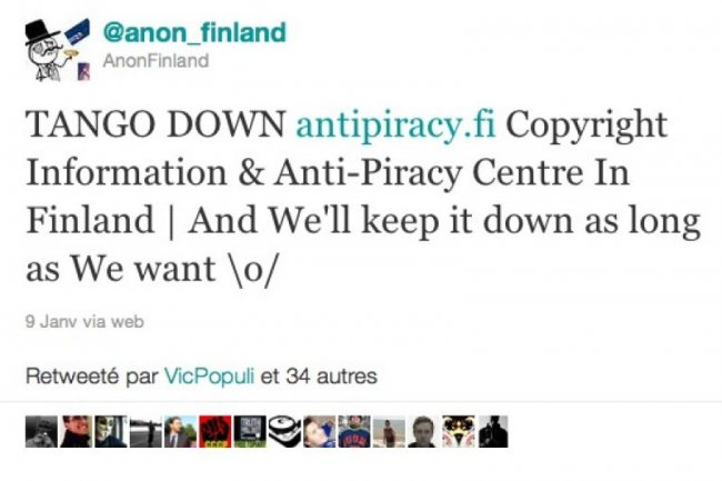 Le blocage de The Pirate Bay conduit les Anonymous � lancer une attaque DDOS