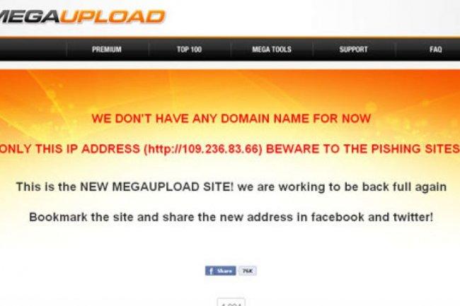 Les faux sites Megaupload se multiplient sur le web pour tromper les internautes d�pit�s