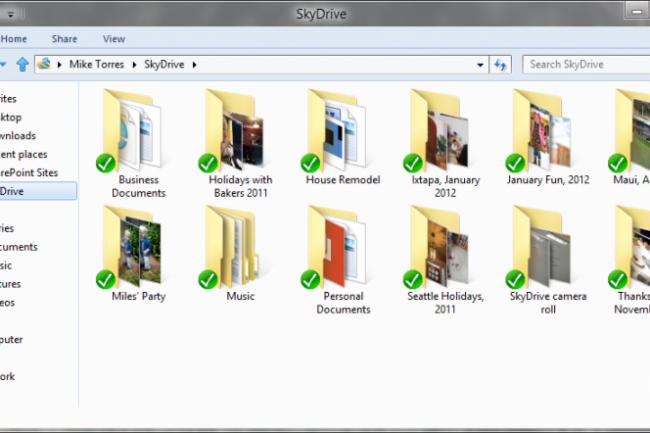 Microsoft va �troitement associer Windows 8 et SkyDrive