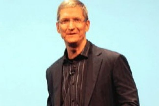 Tim Cook, CEO d'Apple, est le patron le mieux pay� de la Silicon Valley. Cr�dit IDG NS
