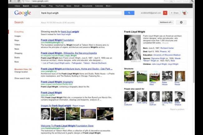 Des résultats avec knowledge graph Crédit Photo: Google