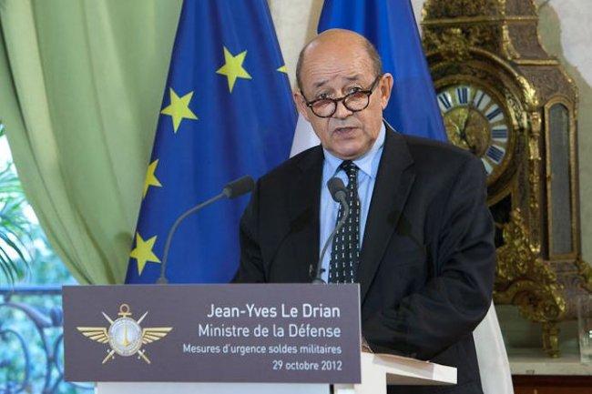 Jean-Yves Le Drian, ministre de la D�fense. Cr�dit :Pellegrino/Ecpad