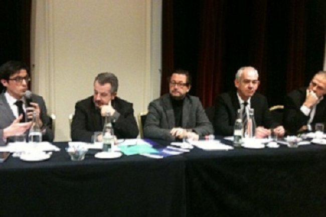De gauche à droite, Olivier Lallement, Deloitte, Jean-Michel Poggi, Université Paris-Descartes, Jacques Froissard, Altaïde. Crédit : D.R