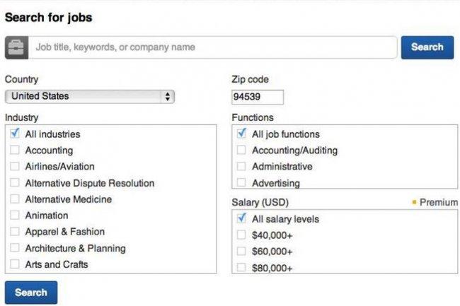 Linkedin am�liore son outil de recherche d'emploi