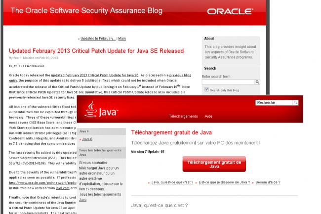 Comme pr�vu, Oracle a livr� le 19 f�vrier un patch pour corriger cinq failles affectant encore Java SE.