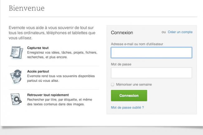 Comme Google, Evernote va imposer une authentification � deux niveaux.