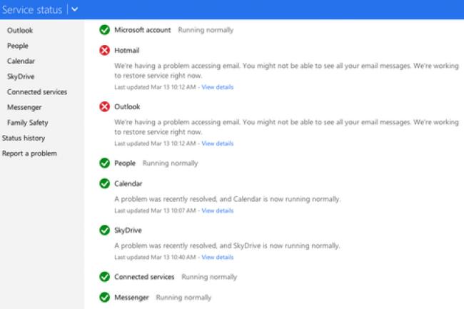 Il a fallu plusieurs heures � Microsoft pour r�soudre les probl�mes affectant Hotmail et Outlook.