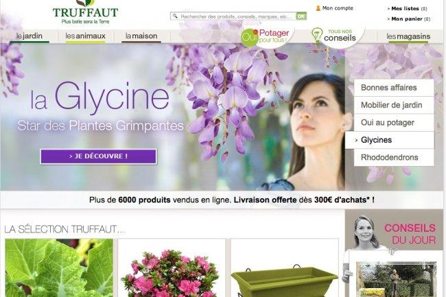 Le site de Truffaut s'intègre à la stratégie multi-canal du distributeur.