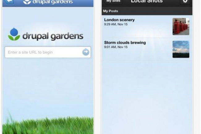 A partir d�un terminal mobile sous iOS, l�app Drupal Gardens permet d�actualiser les contenus des sites r�alis�s avec Drupal 7.