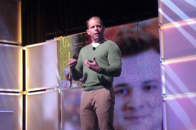 Brad Anderson, corporate vice-président chez Microsoft, se félicite de la progression de Hyper-V ces derniers mois. Crédit D.R.
