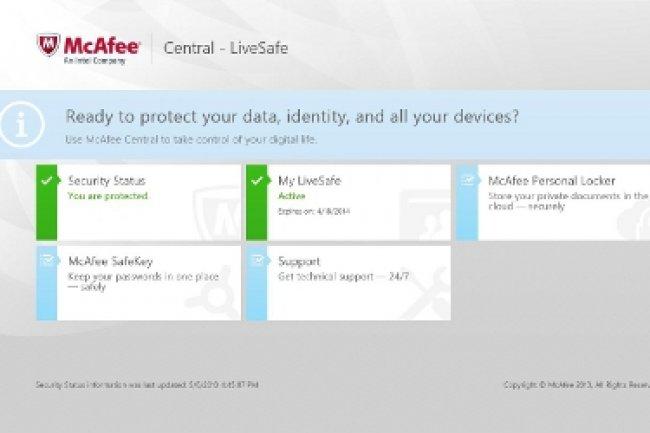 Tableau de bord de LiveSafe