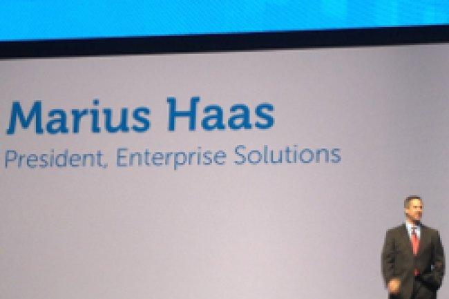 Marius Haas, président de la division Entreprise Solution chez Dell à l'ouverture de la la manifestation Entreprise Forum 2013 à San José