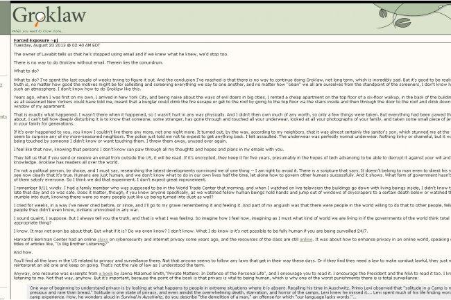 Dans un billet, la fondatrice du site Groklaw explique pourquoi le site arr�te de publier.