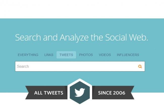 Le moteur de recherche de Topsy permet de retrouver des tweets archivés depuis 2006 Crédit Photo: D.R