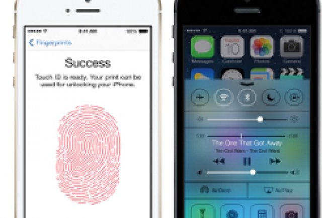 L'iPhone 5S est dot� d'un processeur 64 bits et d'un capteur d'empreinte digitale Cr�dit Photo; Apple