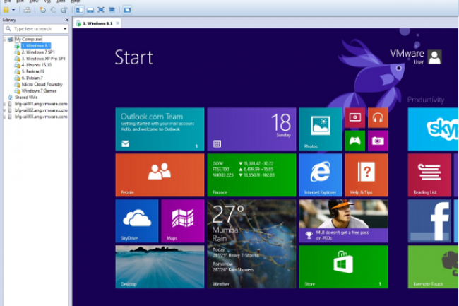 Les derni�res versions de Windows sont bien s�r support�es dans WorkStation 10.  Cr�dit D.R.