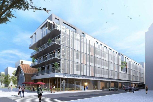 L�incubateur Boucicaut va accueillir des start-up dans les domaines de la e-sant�, de la ville de demain et du design, ainsi que dans le cadre de deux programmes � industriels � avec la SNCF et Alcatel One Touch. (cr�dit : AUA Paul Chemetov)