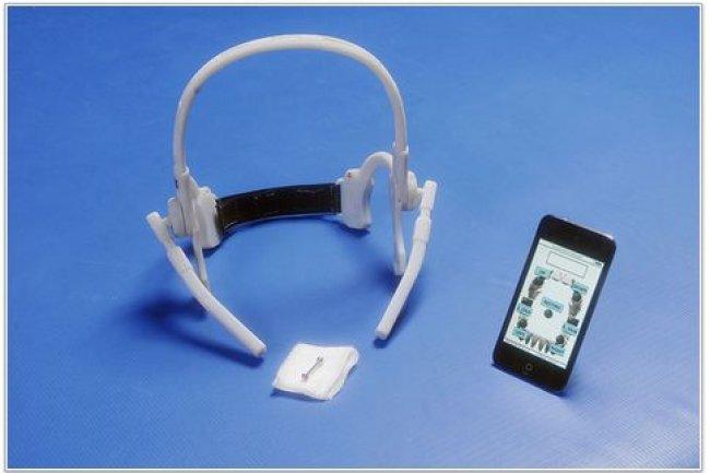 Le dispositif Tongue Drive System (TDS) développé par une équipe d'universitaires de l'Institut de technologie d'Atlanta. (crédit : Maysam Ghovanloo).