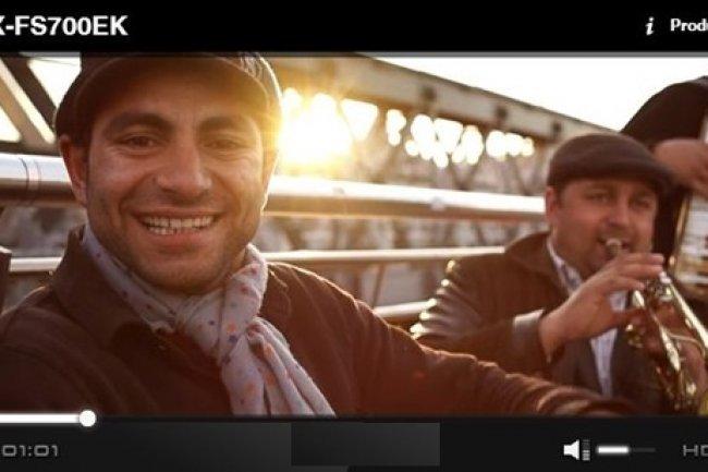 Le lecteur HTML5 de Jilion peut être personnalisé, comme ici pour Sony. (Source: sublimevideo.net/ Sony)
