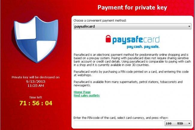 Le ransomware Crilock.A exige 300 $ pour d�crypter les donn�es de l'utilisateur.