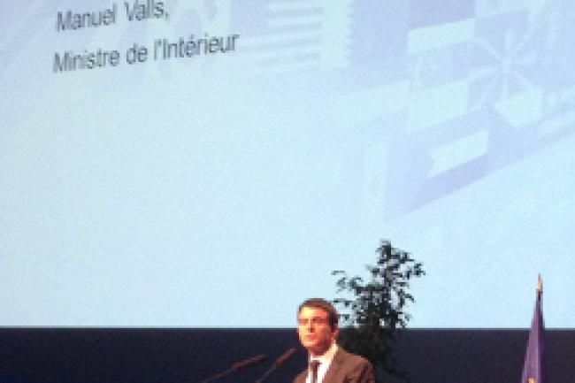 Manuel Valls, ministre de l'Intérieur, a inauguré le FIC 2014 à Lille. Crédit Photo: D.R