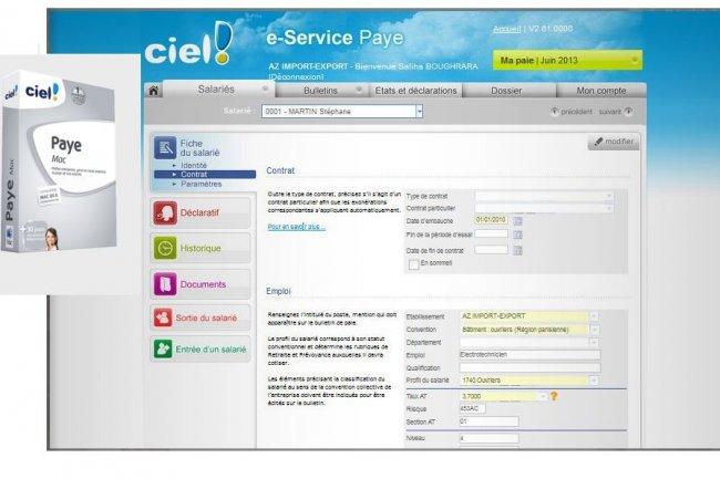 Ciel arr�te son logiciel de paie sur Mac au profit d'e-Services Paye.