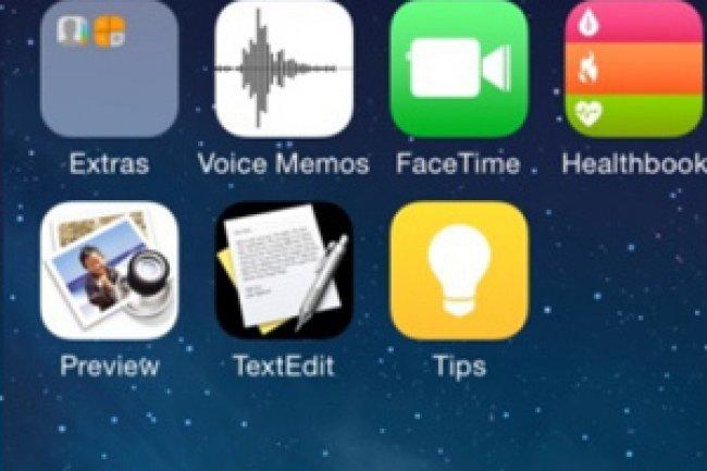 Une ic�ne Healthbook en haut � droite ferait son apparition dans iOS 8. Cr�dit Photo: D.R