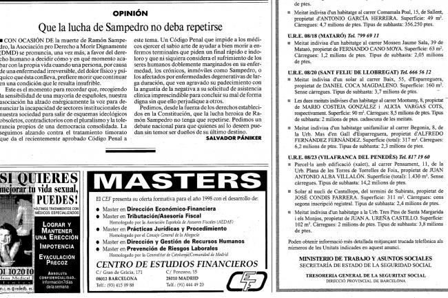 La publication de la mise en liquidation des biens de Mario Costeja Gonz�lez est toujours tr�s facile � retrouver avec Google. Cr�dit D.R.