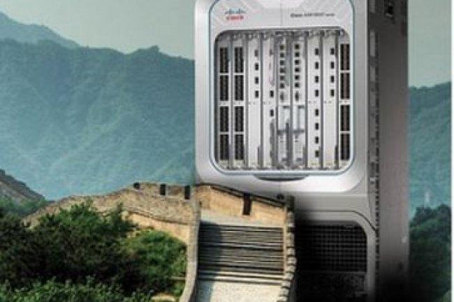 Une malencontreuse publicité de Cisco mettait en scène des routeurs sur la Grande Muraille. Crédit D.R.