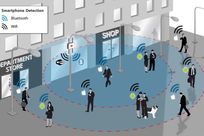 iOS 8 inaugure un système diffusant une adresse MAC aléatoire sur un réseau WiFi public pour tromper les mouchards. Crédit D.R.