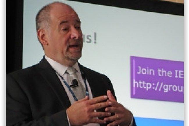 Oleg Logvinov, pr�sident du groupe de travail IEEE P2413, est convaincu de la n�cessit� de coordonner les efforts entre organisations et industriels afin d'aboutir � l'�mergence d'un standard pour l'Internet des Objets. (cr�dit : D.R.)