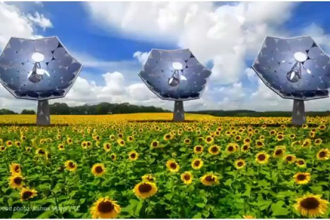 Le concentrateur d'énergie solaire Dsolar tire parti des technologies de refroidissement d'IBM. (crédit : Joshua Mayer/CC)
