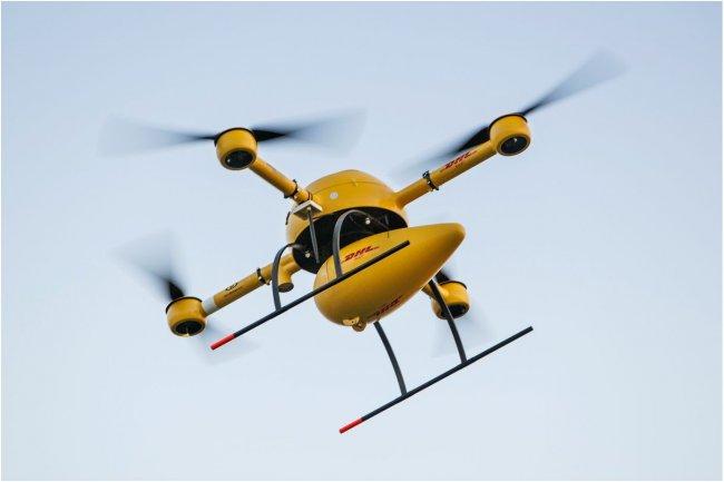 Comme Amazon et Google, DHL veut utiliser des drones pour livrer des colis. (cr�dit : John Ribeiro / IDGNS)