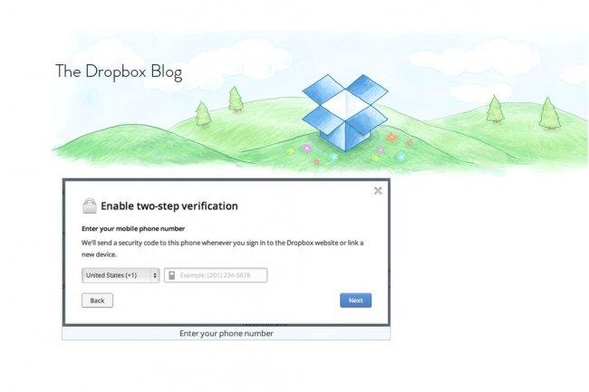 Dropbox recommande à ses utilisateurs une procédure en deux étapes pour se connecter à son service de stockage de fichiers en ligne.