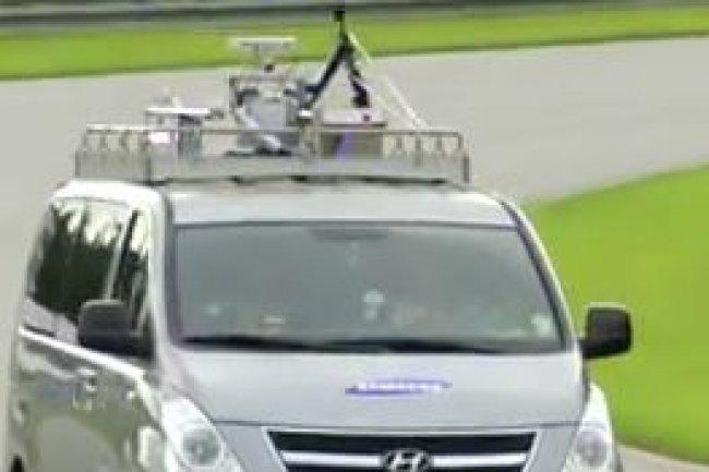 Le test de la 5G de Samsung a été réalisé depuis un véhicule roulant à plus de 100km/h. (crédit : D.R.)