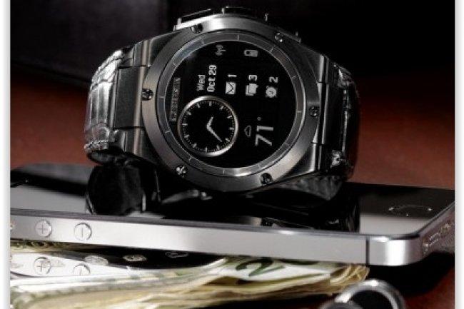 HP a effectu� un gros effort de design pour sa montre connect�e mais ses fonctions restent tr�s limit�es. (cr�dit : D.R.)