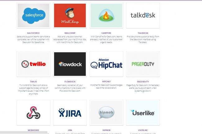 Dans App Hub, les PME exploitant Desk.com pour leur support aux clients trouveront des produits comme MailChimp (e-mailing), Shopify (e-commerce) ou Jira (gestion de projets)