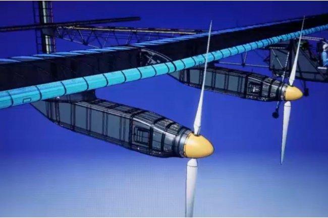 Pour mettre au point un avion tel que le Solar Impulse 2, il a fallu concevoir � nouveau le fuselage et les ailes. L'�quipe a recours � l'application de CAO Catia et � la solution de SGDT collaborative Enovia de Dassault Syst�mes. (cr�dit : D.R.)